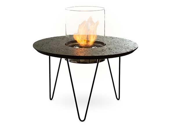 Okrogla vrtna miza na bioetanol